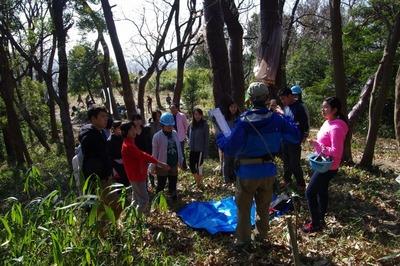 ベースキャンプでは楽しい森のレクリエーション遊びを通訳付で実施.jpg